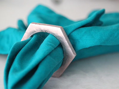 DIY: Rose Gold Napkin Rings | For the Glitz
