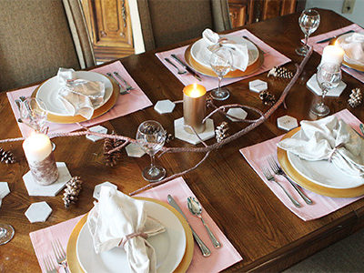Completed Thanksgiving Tablescape | For the Glitz