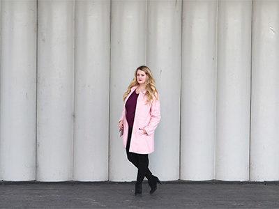 Pink Coat in Washington, DC   For the Glitz