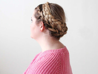 French Crown Braid Tutorial | For the Glitz