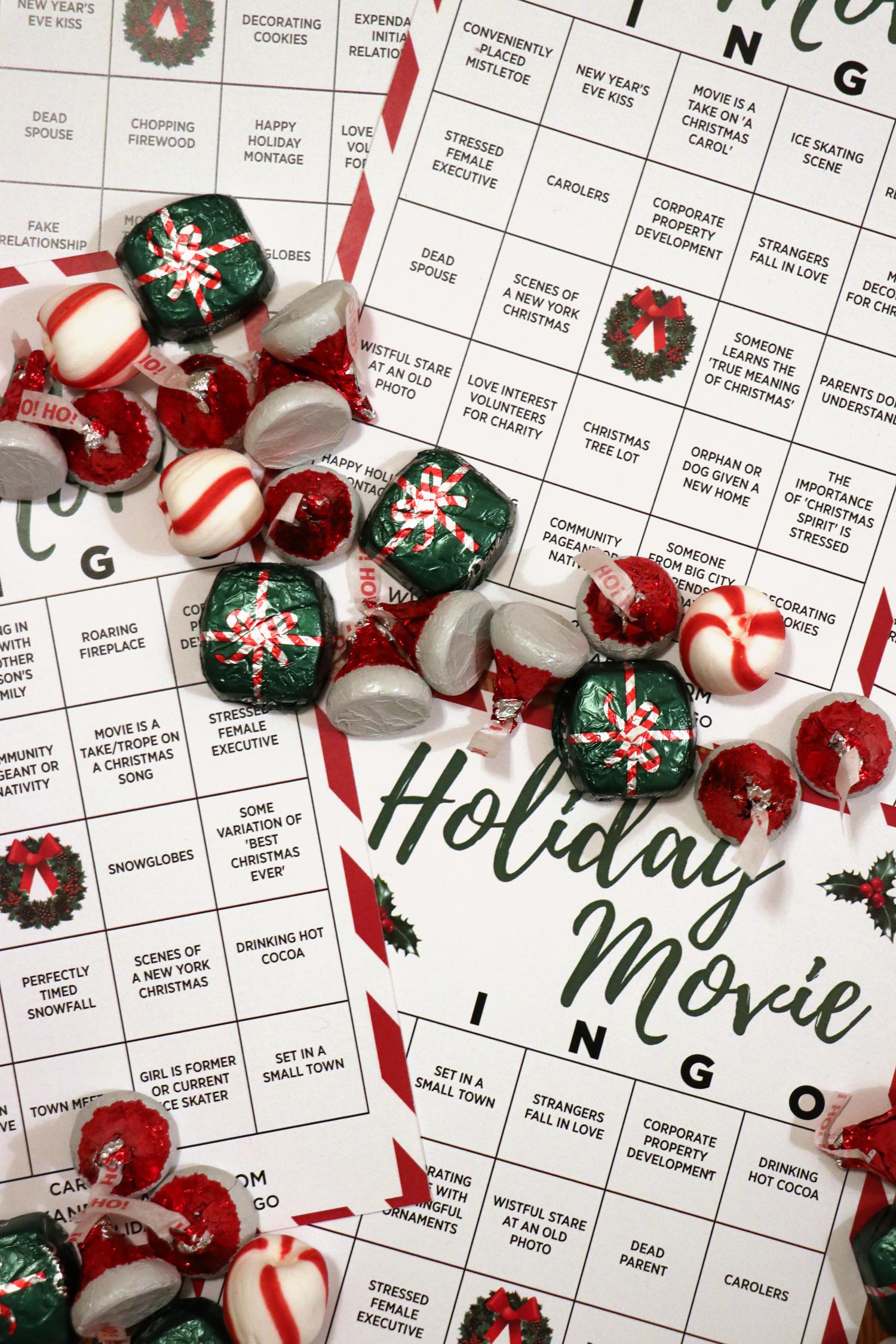 Actriz Porno Melrouse Place holiday movie party idea + printable bingo card | for the glitz